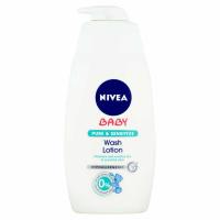 NIVEA Baby Pure & Sensitive Mycí gel na tvář, tělo a vlásky 500 ml