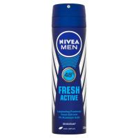 NIVEA Men Fresh Active Sprej deodorant pro muže 150 ml