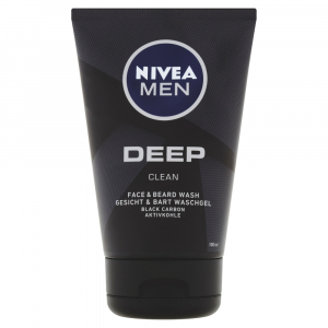 NIVEA Men Deep Čisticí gel na obličej a vousy 100 ml