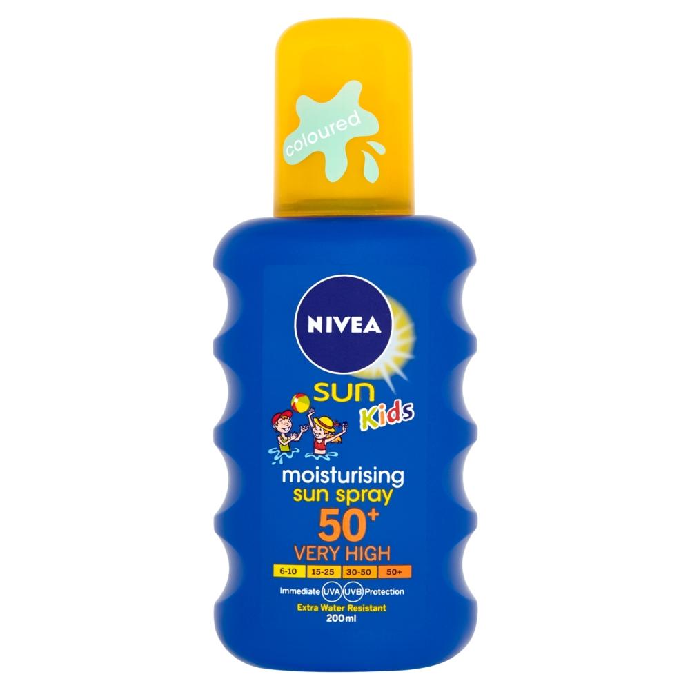 NIVEA Sun Dětský barevný sprej na opalování OF 50+ 200 ml