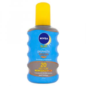 NIVEA Sun Protect & Bronze Olej na opalování podporující zhnědnutí OF 20 200 ml