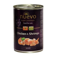 NUEVO Kuře a krevety konzerva pro kočky 400 g