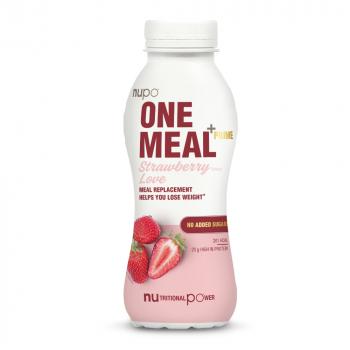 NUPO One meal + prime nápoj jahoda 330 ml