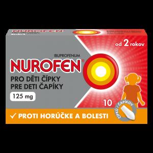 NUROFEN Čípky pro děti od 2 let 125 mg 10 kusů