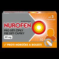 NUROFEN Čípky pro děti od 3 měsíců 60 mg 10 kusů
