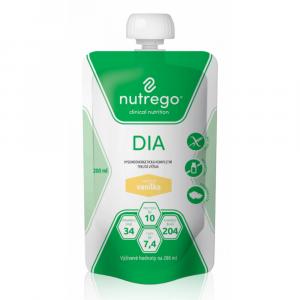 NUTREGO DIA Výživa 12x200 ml, Příchuť: Vanilka