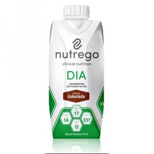 NUTREGO DIA Výživa 12x330 ml, Příchuť: Čokoláda