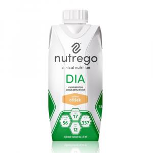 NUTREGO DIA Výživa 12 x 330 ml, Příchuť: Oříšek