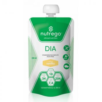 NUTREGO DIA Výživa vanilka 12 x 200 ml