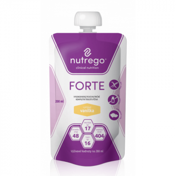 NUTREGO FORTE Výživa vanilka.12 x 200 ml