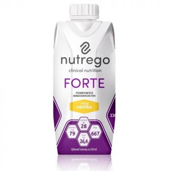 NUTREGO FORTE Výživa vanilka 12 x 330 ml
