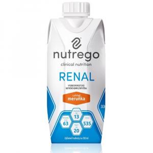 NUTREGO RENAL Výživa 12 x 330 ml, Příchuť: Meruňka