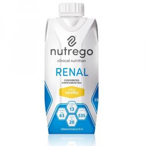 NUTREGO RENAL Výživa 12 x 330 ml, Příchuť: Vanilka