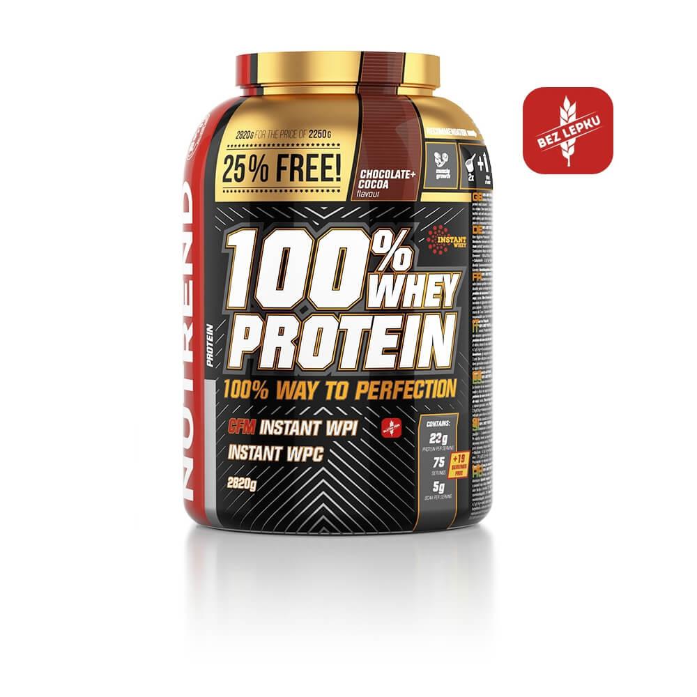 NUTREND 100% Whey Protein čokoláda+kakao 2250 g