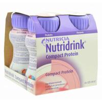 NUTRIDRINK Compact protein drink s jahodovou příchutí 4 x 125 ml
