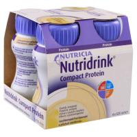NUTRIDRINK Compact Protein drink s vanilkovou příchutí 4 x 125 ml