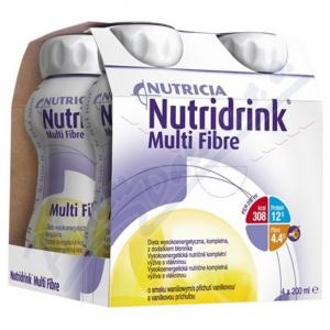 NUTRIDRINK Multifibre s příchutí vanilkovou 4 x 200 ml