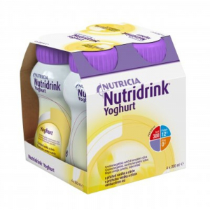 NUTRIDRINK Yoghurt s příchutí vanilka a citrón 4 x 200 ml