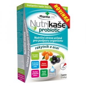 PHARMALINE Nutrikaše probiotic Rakytník a acai 3 x 60g