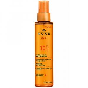 NUXE SUN Bronzující olej SPF10 obličej a tělo 150 ml