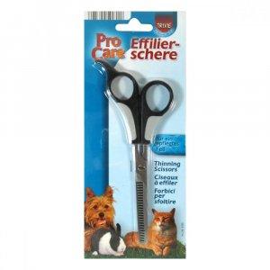 TRIXIE Nůžky na stříhání psů efilační jednostranné 18,5 cm
