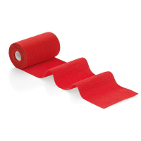Obinadlo elastické Idealast color 8 cmx 4 m červené
