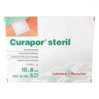 Náplast Curapor chirurgická sterilní 10x 8 cm/5 ks