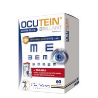 DA VINCI ACADEMIA Ocutein brillant lutein 25 mg 60 tobolek + Zvlhčující oční kapky 15 ml ZDARMA