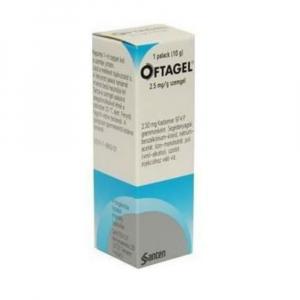 OFTAGEL  1X10GM/25MG Oční gel