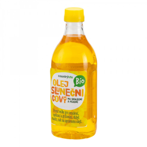 COUNTRY LIFE Olej slunečnicový na smažení a pečení 1L BIO