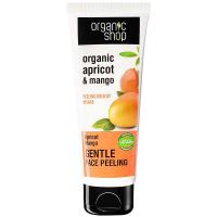 ORGANIC SHOP Jemný peeling na obličej Meruňkové mango 75 ml