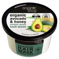 ORGANIC SHOP Vlasová maska Avokádo a Med 280 ml