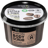 ORGANIC SHOP Tělový peeling Brazilská káva 250 ml