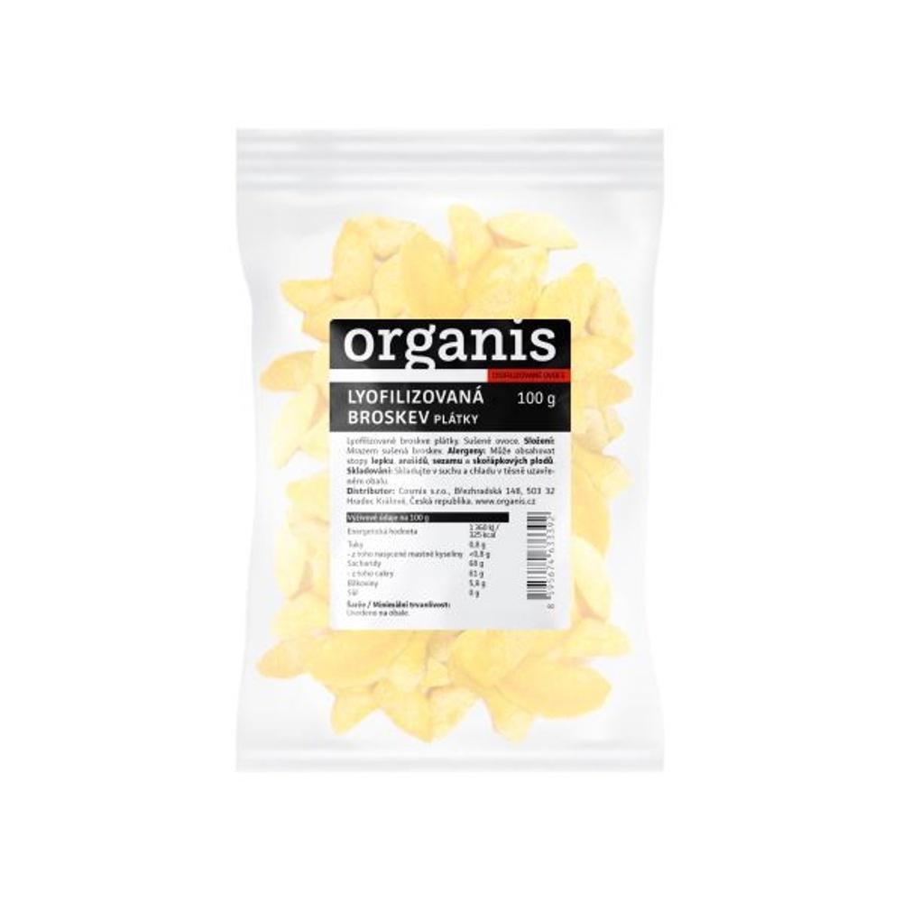 ORGANIS Broskev sušené mrazem plátky 100 g