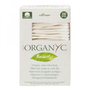 ORGANYC čisticí tyčinky z biobavlny 200 kusů