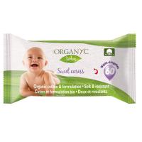 ORGANYC dětské čisticí ubrousky z biobavlny 60 kusů
