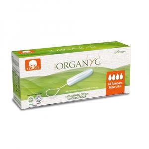 ORGANYC tampony z biobavlny SUPERPLUS 16 kusů