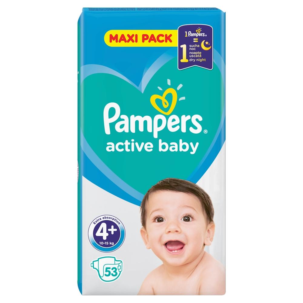 PAMPERS Active Baby VVP Maxi Plus 9-16kg 53 kusů