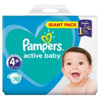 PAMPERS Active Baby vel.4+ Dětské pleny 10-15kg  70 ks