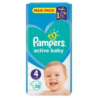 PAMPERS Active Baby Vel.4 Dětské pleny 9-14kg  58 ks