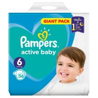 PAMPERS Active Baby Vel.6 Dětské pleny 13-18kg  56 ks