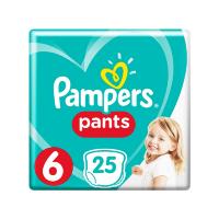 PAMPERS Pants 6 Plenkové kalhotky 12-17 kg 25 ks