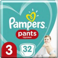 PAMPERS Pants vel.3 Plenkové kalhotky 6-11kg 32 ks