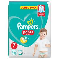 PAMPERS Pants vel.7 Jumbo Pack 17+kg Kalhotkové plenky 40 ks