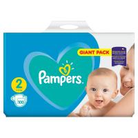 PAMPERS Plenky Velikost 2, 100 Plenek, 4-8 kg