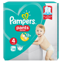 PAMPERS Pants vel.4 Maxi 9-14 kg Kalhotkové plenky 24 ks