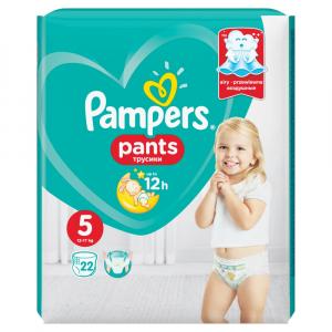 PAMPERS Pants vel.5 Junior 12-18 kg Kalhotkové plenky 22 ks