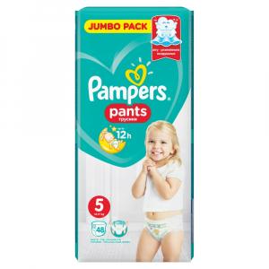 PAMPERS Pants vel.5 15 - 17kg Kalhotkové plenky 48 ks