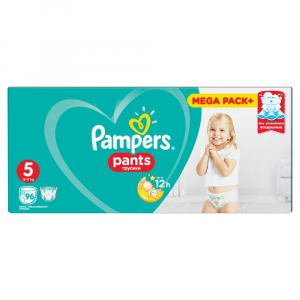 PAMPERS Pants Junior kalhotkové plenky vel. 5, 12 - 18 kg 96 kusů