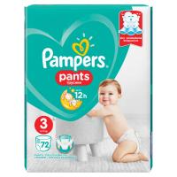 PAMPERS Pants Vel.3 Plenkové kalhotky 72 ks